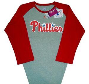 d77f1ca0425 Philadelphia Phillies Majestic MLB 3 4-Sleeve T-Shirt Women s Plus ...