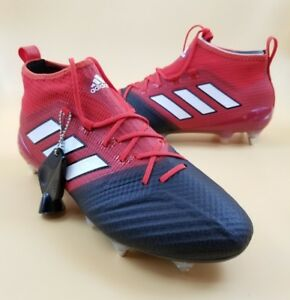 check out 9dc10 69227 Details about Adidas ACE 17.1 Primeknit SG Soccer Cleats Red Black BA9188  Men SIZE 8.5 $200
