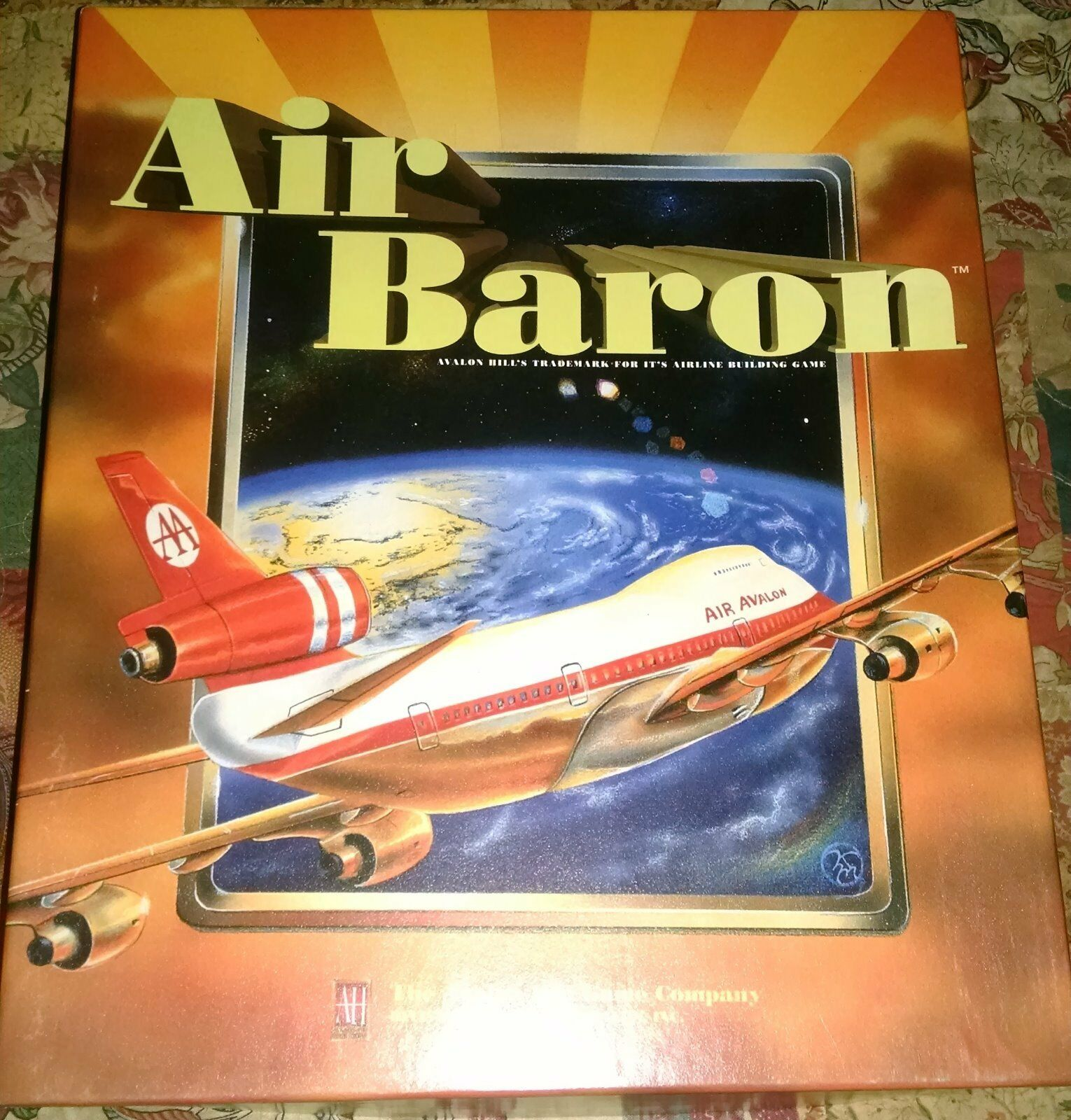 Avalon Hill's Air Baron  opened, never played, unpunched