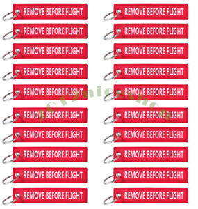 LOT PACK OF 10 White   Red Remove Before Flight Keychain Aviation ... 5831068e3a
