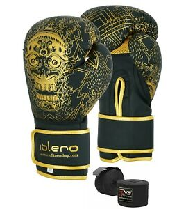 EVO-Maya-Pelle-Gel-Guantoni-Da-Boxe-MMA-Punch-Bag-SPARRING-MUAY-THAI-FIGHT-Treno