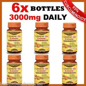 6-x-BOTTLES-TURMERIC-3000-EXTREME-95-CURCUMINOID-TUMERIC-CAPSULES-ANTIOXIDANT