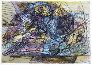 DDR-Kunst-1989-Kolorierte-Radierung-Dagmar-RANFT-SCHINKE-1944-D-handsigniert