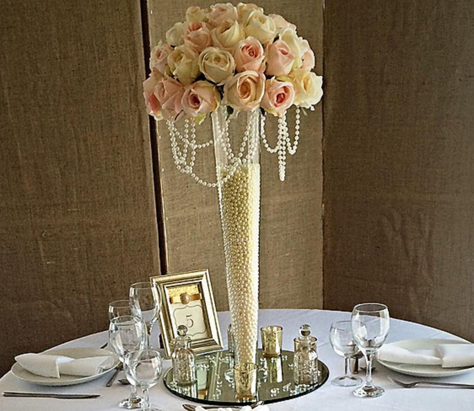 2 X Large grand événeHommes conique vase 68 cm table de mariage événeHommes grand t Décoration EF fc524c