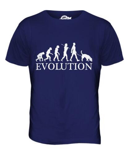 BLOODHOUND EVOLUTION OF MAN MENS T-SHIRT TEE TOP DOG LOVER GIFT WALKER WALKING