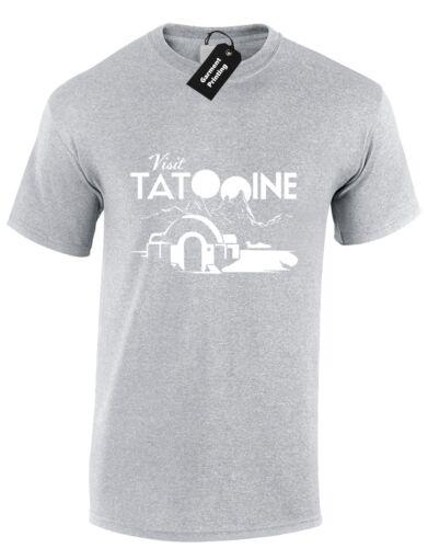 Visite tatooine homme t shirt cool star trooper jedi wars skywalker yoda design