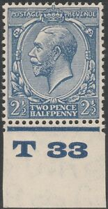 1924-BLOCK-CYPHER-SG422-21-2d-BLUE-CONTROL-T33-MINT-HINGED