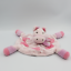 miniature 1 - Doudou plat rond rose cheval ane coeur KIMBALOO - Cheval, Ane, Zèbre Plat, Semi