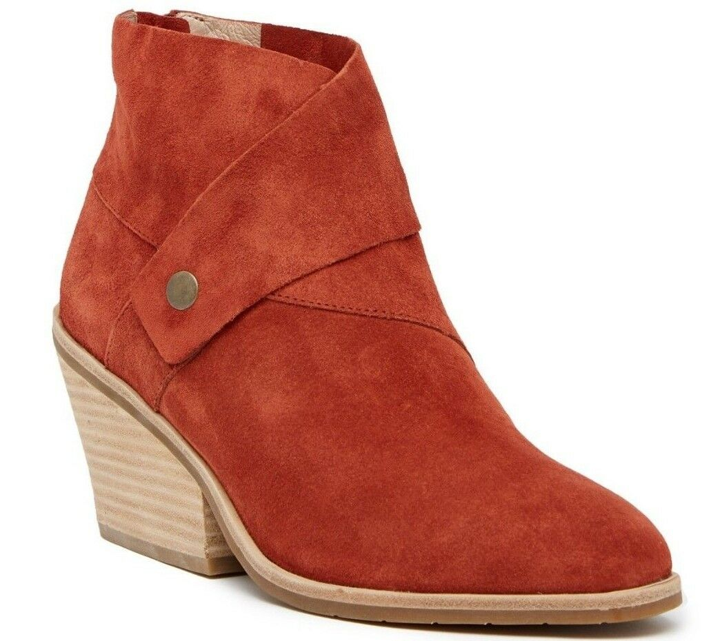 NIB Eileen Fisher Tag Sport Bootie Ankle Boots Suede Sunset Size 7.5 M