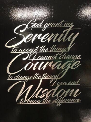 Serenity Prayer Metal Wall Art Inspirational