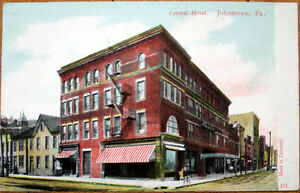 1909-Postcard-Chrystal-Hotel-Johnstown-Pennsylvania-PA