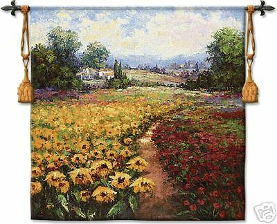 Tuscan Pleasures Flower Countryside Landscape Tapestry
