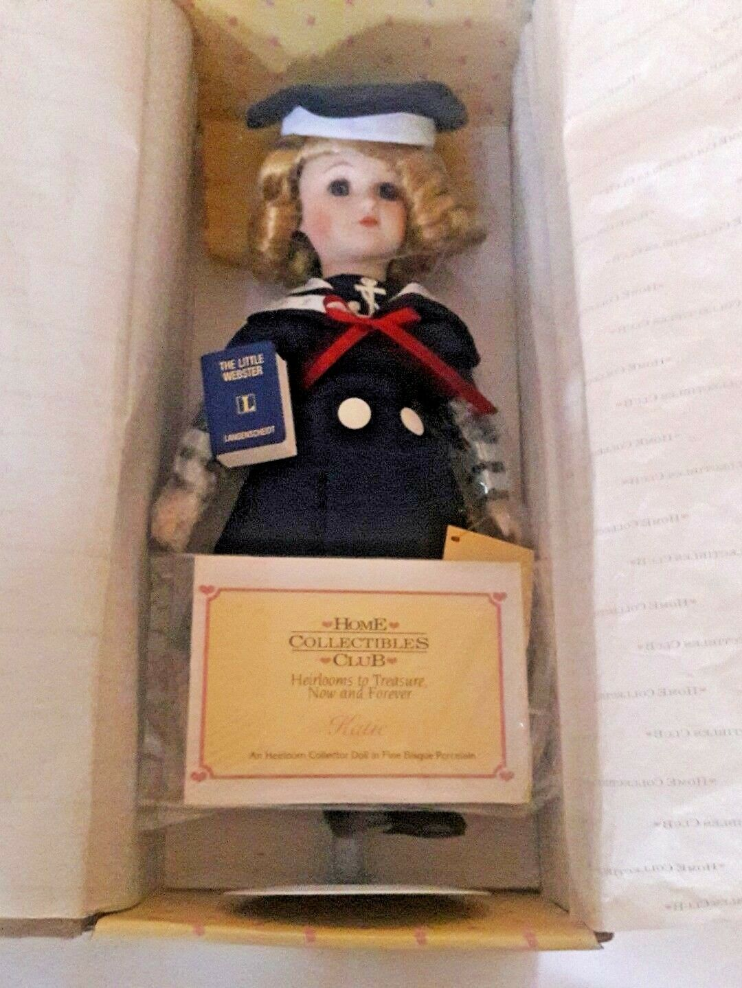 RARE COLLECTION VINTAGE PORCELAIN DOLL, STILL IN ORIGINAL BOX- AUTHENTIC