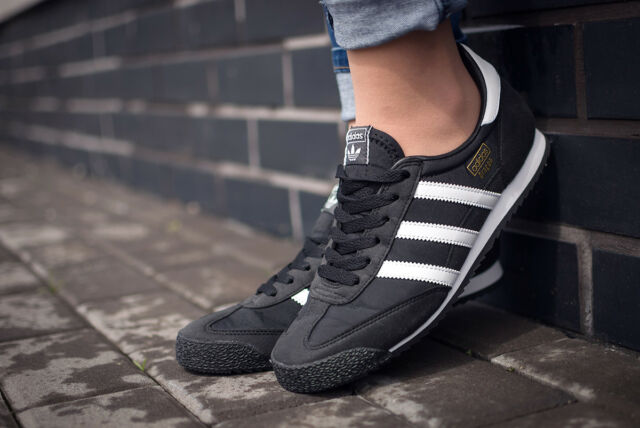 ADIDAS DRAGON OG Junior Sneaker Schuhe Jungen Mädchen Damen Schwarz BB2487 Gr 38