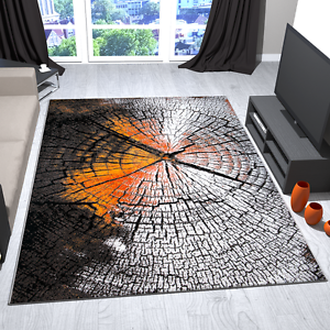 Perfekt Das Bild Wird Geladen Teppich Design Modern In Grau Braun Rot Motiv