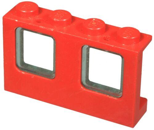 Missing Lego Brick 4863 /& 4862 Red /& TrLtBlue Window 1 x 4 x 2 Plane /& Glass for