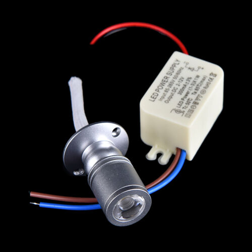 1W Mini LED Warm White Spotlight Jewelry light Cabinet Ceiling Flood Lamp YL