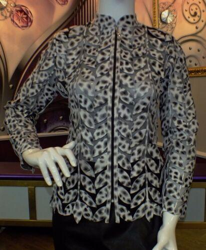 Femmes luxe CREATEUR joli Cuir Blazer//Chemisier//Leo simili Taille 36,38,40,42 Neuf