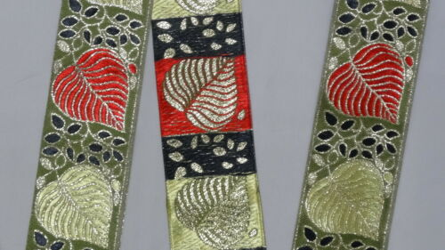 """3 Yd Jacquard Trim 2/"""" wide Woven Border Sew Embroidered Ribbon Lace T841"""