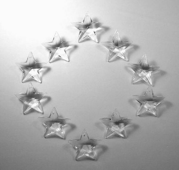 SALE 10 STAR CRYSTALS 28mm CHANDELIER CRAFT SUNCATCHER was $8.95