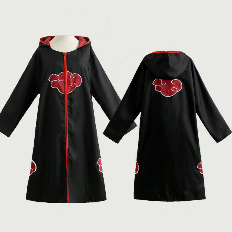 Halloween Cosplay Red Cloud Naruto Akatsuki Costume Robe Cape Cloak