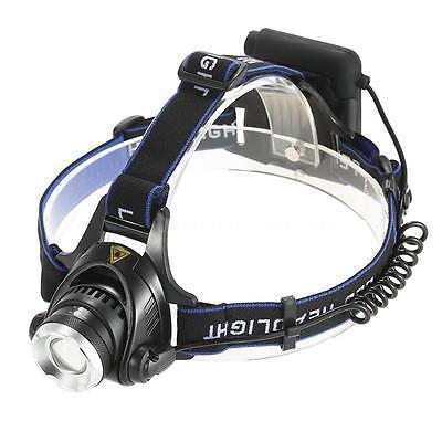 1200 Lumen LED 4x AA Headlamp Headlight Head Torch Zoomable Fishing 3 Modes Z1I9