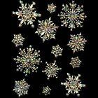 Festive Christmas Xmas Snowflake Snow Window Glitter Wall Sticker Set Decoration