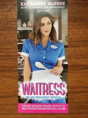Katharine Mcphee Of Idol Waitress Ad Flyer Broadway Nyc Sara Bareilles Musical 1 Ebay