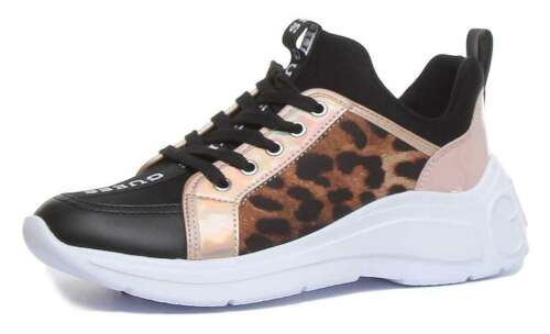 Guess Speerit Lace Up Lightweight In Leopard
