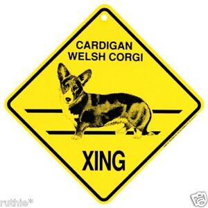 Cardigan Welsh Corgi Dog Crossing Xing Sign New
