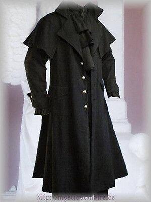Victorian Country Style  Black Box Coat Vintage Goth Steampunk Pelerine
