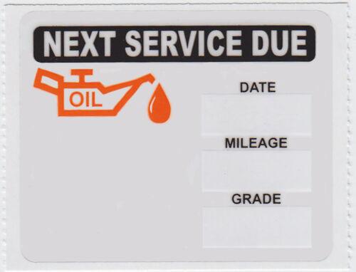 Roll of 500 ORANGE//BLACK LOW TACK OIL CHANGE REMINDER STICKERS DECALS FREE SHIP