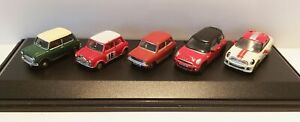 Mini-Car-5-Piece-Set-Diecast-Model-1-76-Scale-Gauge-00-Oxford-NEW