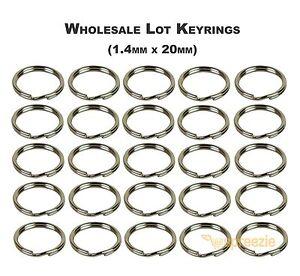 Split-Key-Rings-3-4-034-Keychain-Key-Holder-Locksmith-1-4mm-x-20mm-Wholesale-Lots