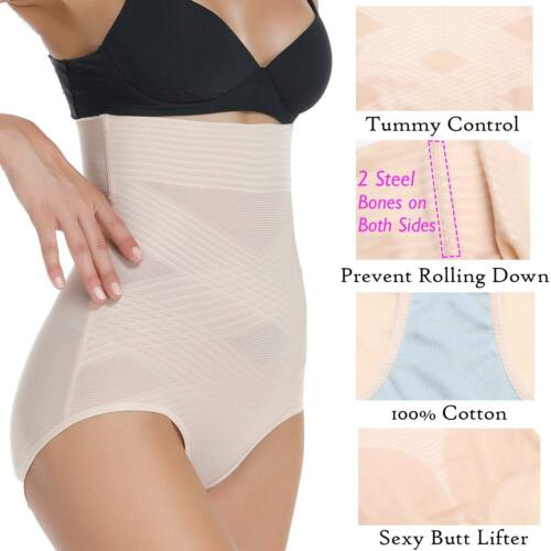 UK Women Slimming Shapewear Fat Burning Slim Body Shaper Bodysuit Pants Cincher
