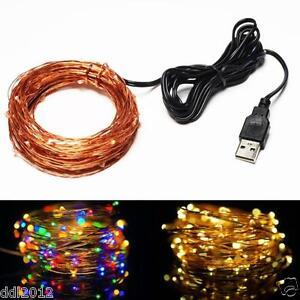 Battery-String-Fairy-Lights-Lamp-10M-33ft-100-Led-Garland-Copper-Wedding-Decor