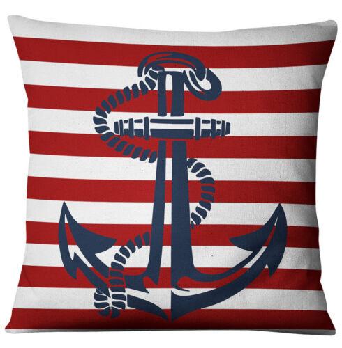 Navigation Marine Bleu Nautique Shell Starfish Linen Pillow Marine Housse De Coussin