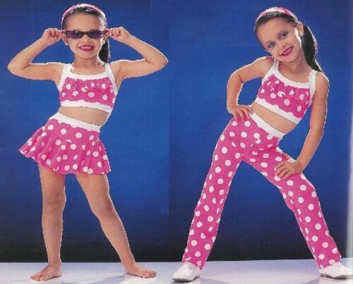 Polka Dot Bikini Dance Jazz Tap Costume Child XS Clearance