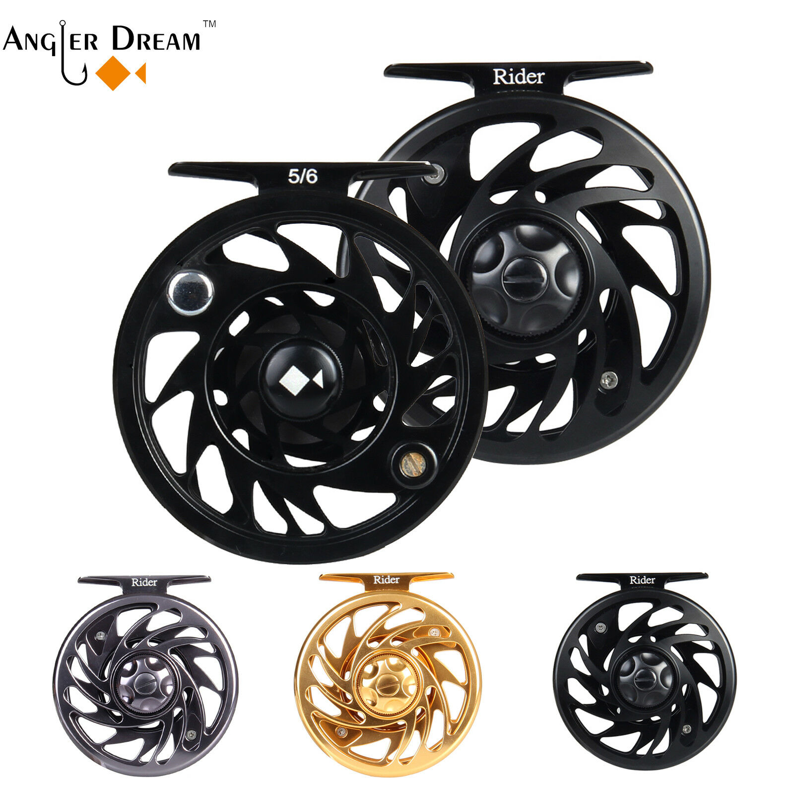 FLY fishing reel 3/4 5/6 7/8 9/10WT CMC lavorato Reel Fly Reel lavorato a53839