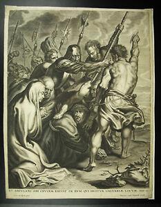 Belle École Flamande C1650 Frans Van Den Wyngaerde,anthony Van Dyck Le Christ Golgotha