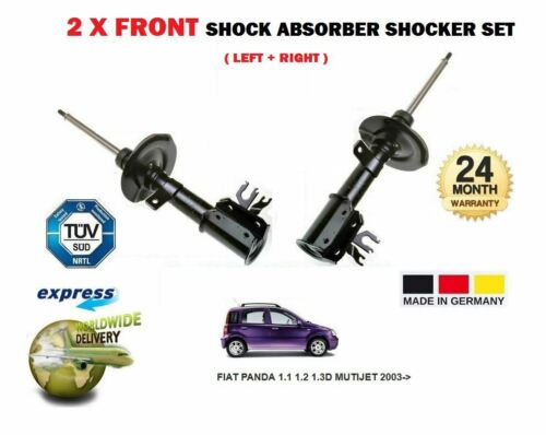 FOR FIAT PANDA 1.1 1.2 1.3D MUTIJET 2003-/> 2 x FRONT LEFT /& RIGHT SHOCK ABSORBER