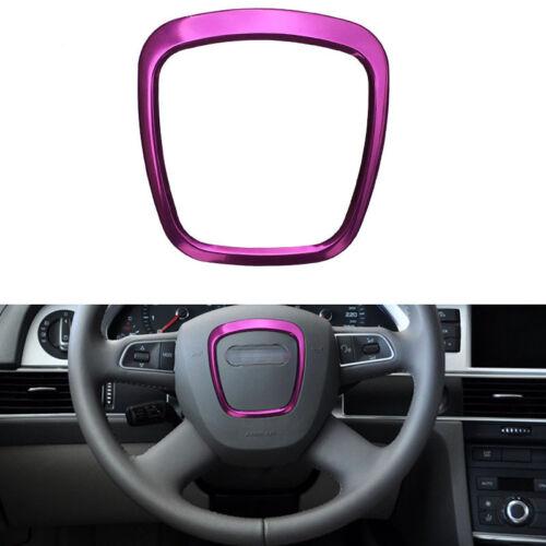 Purple Trapezoid Steering Wheel Sticker Aluminum Trim Emblem For Audi A3 S4 A6