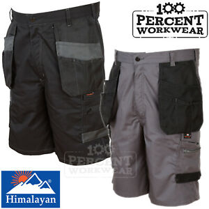 Hard-Wearing-High-Quality-Work-Shorts-Cargo-Pockets-Polycotton-Tradesman-Builder