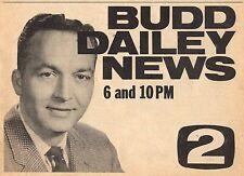 1961 KVOO TV AD~BUDD DAILEY~NEWS REPORTER IN TULSA OKLAHOMA~CHANNEL 2
