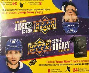 20-21 Upper Deck Hockey SERIES 2 Factory Sealed Retail Box - (24) Pack Kaprizov?