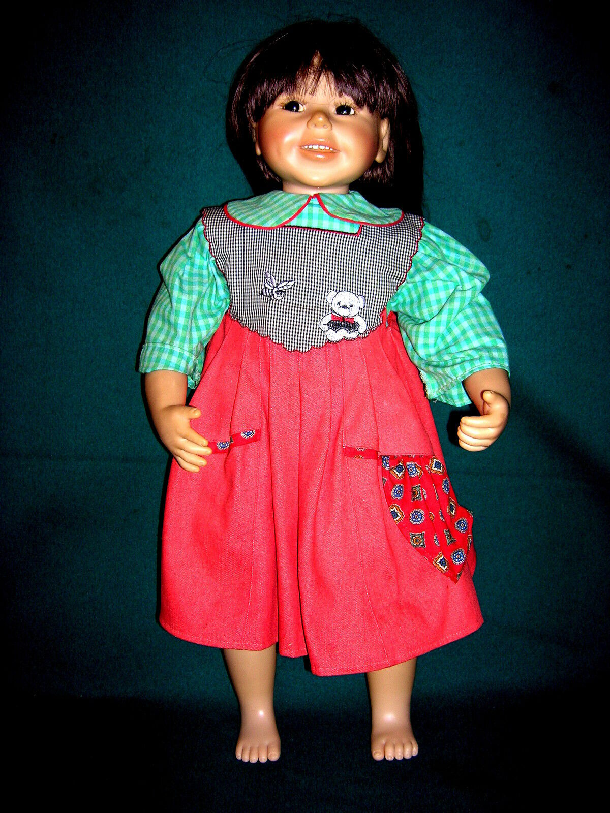 Rara brigitte leman artistas muñeca 65cm
