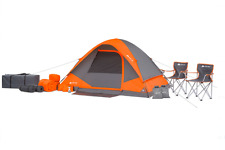 22 piece Camping Combo Package Set 4 Person Mesh Wall Dome Type Outdoor Tent NEW