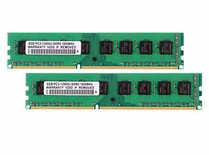16 GB 2X 8GB DDR3 2RX8 PC3-12800U 1600MHz DIMM Desktop RAM Memory Only For AMD