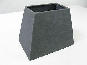 Paralume-di-tessuto-stile-country-vintage-24-x16cm-PER-27-montatura-nero
