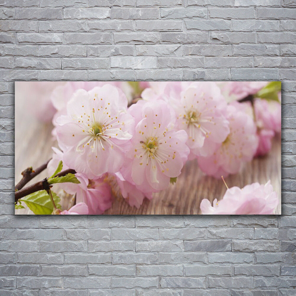 Impression sur verre Wall Art 120x60 Photo Image Branch Fleurs Floral